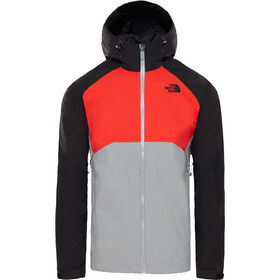 The North Face Stratos Veste Homme, mid grey/fiery red/tnf black